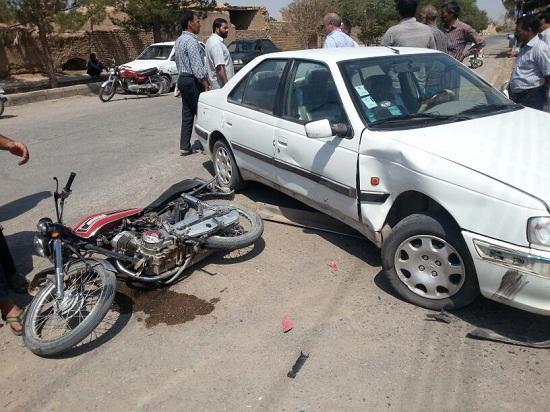 بیش از نیمی از حوادث ترافیکی در رفسنجان بر اثر تصادفات موتور سیکلت است