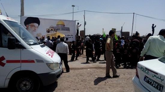 حضور اورژانس ۱۱۵ رفسنجان در راهپیمایی روز قدس