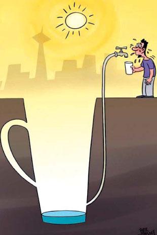 کاریکاتور/بحران جدی کمبود آب