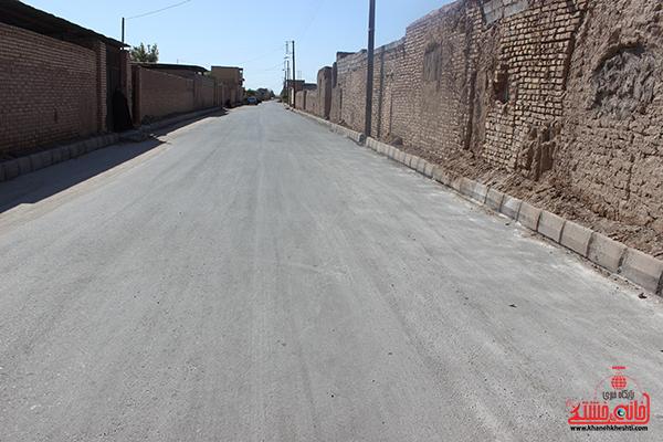 آسفالت روستای اسماعیل آباد رفسنجان به بهره برداری رسید