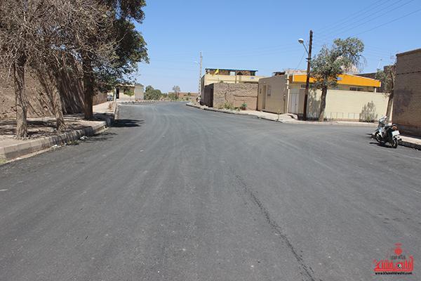 آسفالت خیابان عباس آباد حاجی رفسنجان1