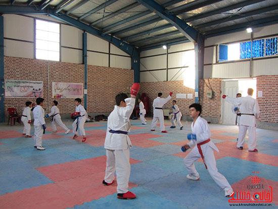 آماده سازی کاراته کاران نوجوان رفسنجانی برای حضور در مسابقات کشوری