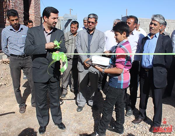 افتتاح پروژه پرورش گوساله در خنامان رفسنجان