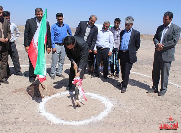 افتتاح ۲ پروژه و کلنگ زنی یک پروژه در روستای ناصریه رفسنجان +عکس