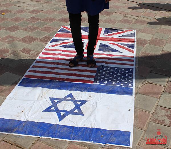 6بیانیه حمایت از غزه در رفسنجان
