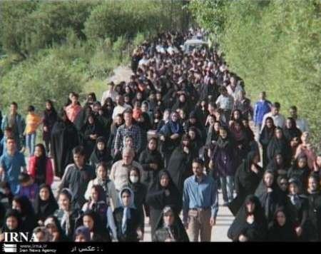 همایش بزرگ پیاده روی خانوادگی روستایی در رفسنجان
