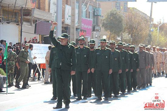 رژه نیروهای مسلح رفسنجان-خانه خشتی