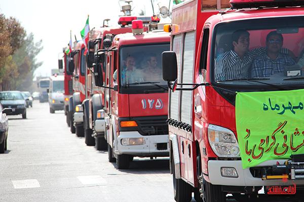 مانور آتش نشانی در رفسنجان3