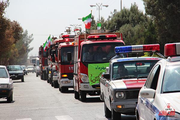 مانور آتش نشانی در رفسنجان5