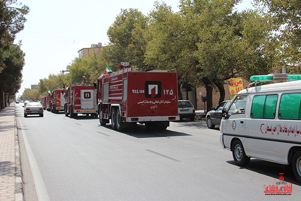 مانور آتش نشانی در رفسنجان8