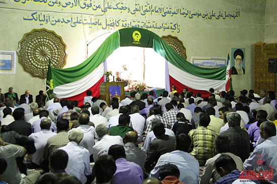 دوربین خانه خشتی در مراسم جشن شب میلاد امام رضا(ع) در رفسنجان