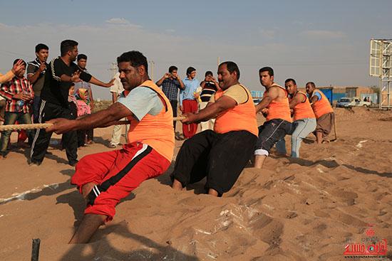 مسابقه طناب کشی در رفسنجان برگزار شد
