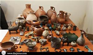 کشف عتیقه های ۲ هزار ساله جیرفت، در رفسنجان