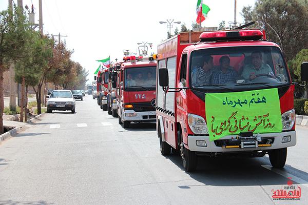 2مانور آتش نشانی در رفسنجان