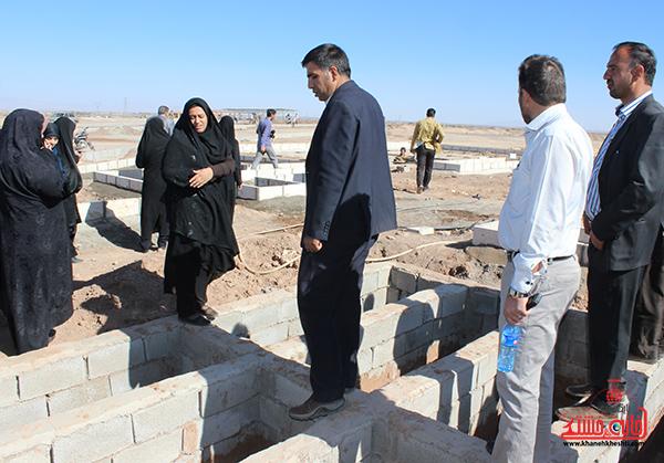 بازدید بانوان شهرداری از پروژه های شهرداری رفسنجان