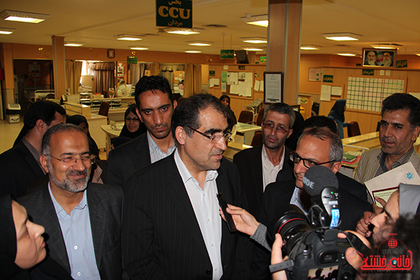بازدید وزیر بهداشت از بیمارستان رفسنجان