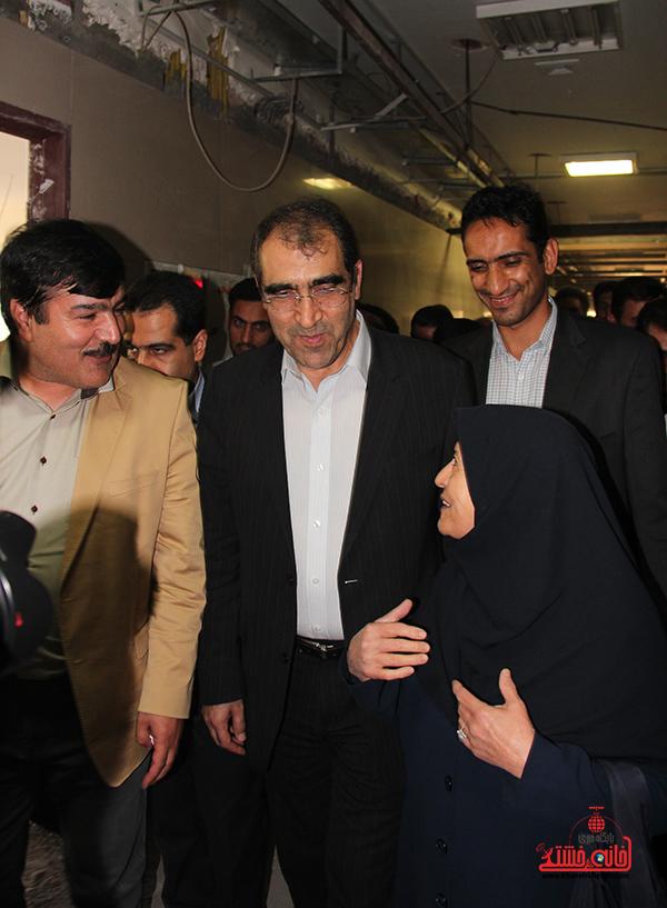 بازدید وزیر بهداشت از بیمارستان رفسنجان5