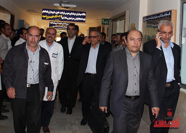 بازدید وزیر بهداشت از بیمارستان رفسنجان8