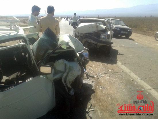 برخورد دو وانت پیکان در محو کشکوئیه –شریف آباد سه کشته بر جای گذاشت