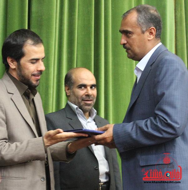 دوربین خانه خشتی در مراسم تودیع و معارفه رئیس اداره فرهنگ و ارشاد اسلامی رفسنجان