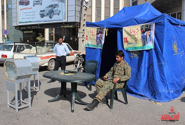 بازدید فرماندار رفسنجان از پایگاه های جشن عاطفه ها / برپایی ۱۱۳ پایگاه در سطح شهر