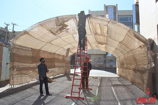 شور جوانان رفسنجانی در عزای حسینی-خانه خشتی (2)