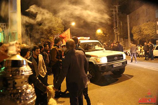 مراسم استقبال و وداع با شهید گمنام در رفسنجان (2)
