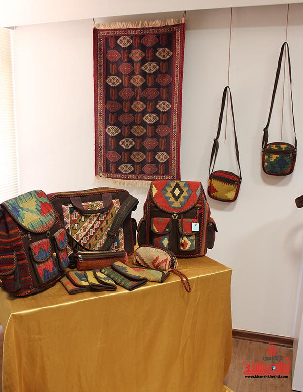 نمایشگاه محصولات گلیمی در رفسنجان