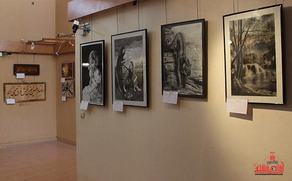 نمایشگاه هنرهای تجسمی در رفسنجان برپا شد