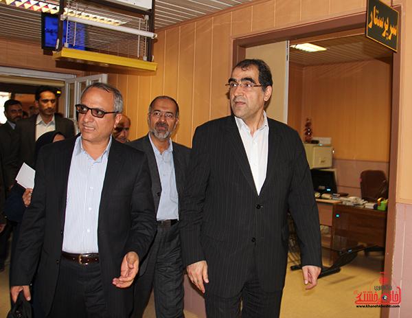8بازدید وزیر بهداشت از بیمارستان رفسنجان