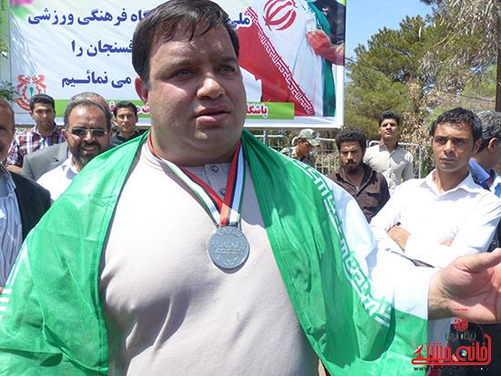 منصور پورمیرزایی مدال نقره بازیهای پارالمپیک آسیایی را کسب کرد