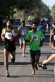 مسابقات دو و میدانی در روستای قاسم آباد رفسنجان برگزار می شود