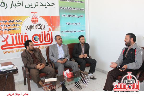 رئیس اداره فرهنگ و ارشاد اسلامی رفسنجان از دفتر پایگاه اطلاع رسانی خانه خشتی بازدید کرد+تصاویر