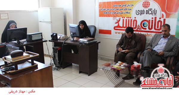 بازدید تقوی رئیس اداره فرهنگ و ارشاد اسلامی از سایت خانه خشتی رفسنجان2