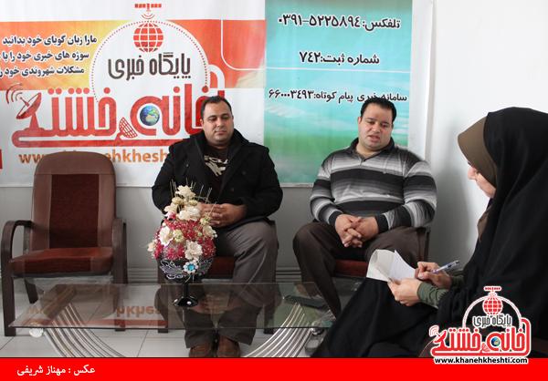 بازدید منصور پورمیرزایی و سعید اکبری از سایت خانه خشتی رفسنجان1