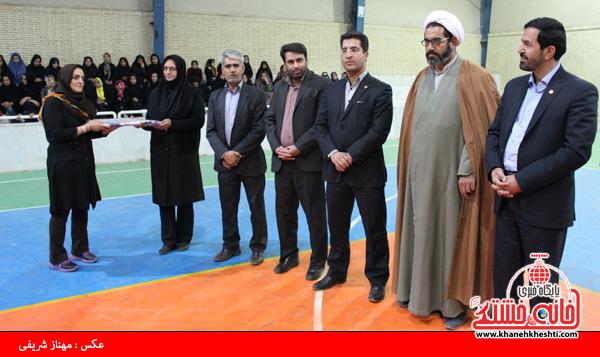 رقابت تیم های والیبال بانوان ورزشکار بخش های رفسنجان به پایان رسید+عکس