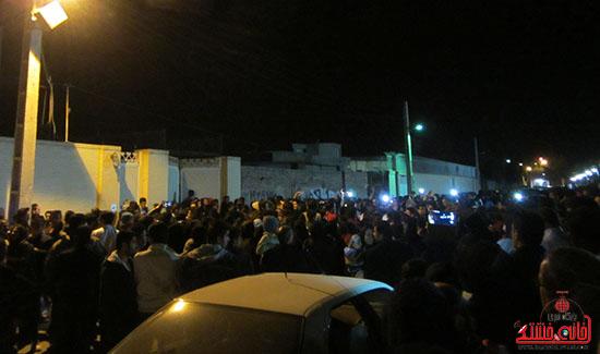 تجمع هواداران مرتضی پاشایی در پارک مادر رفسنجان