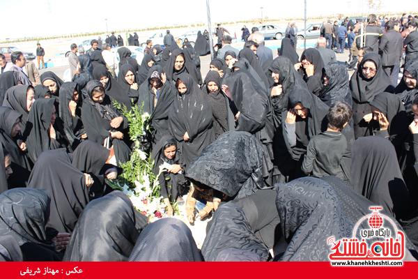 خاکسپاری اولین میت در بهشت زهرا رفسنجان