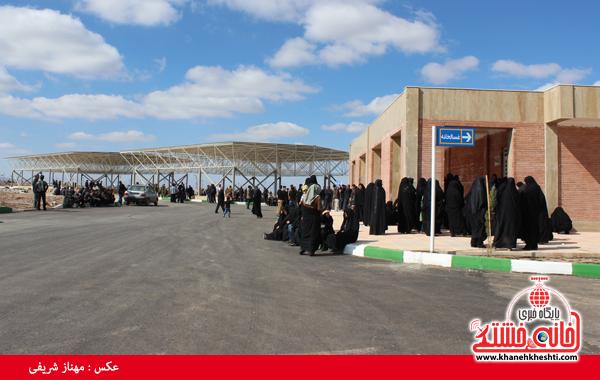 دوربین خانه خشتی در افتتاح بزرگترین آرامستان شهرداری رفسنجان