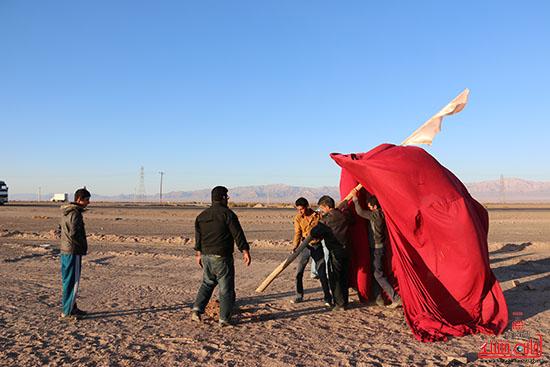 پشت صحنه تعزیه هیات علمدار کربلای رفسنجان (7)