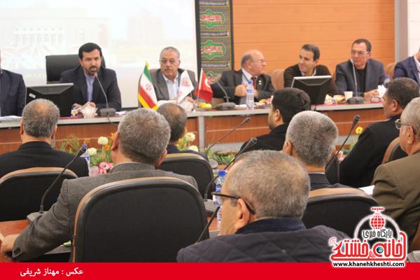 نشست مشترک تجار و بازرگانان ترکیه و رفسنجان برگزار شد