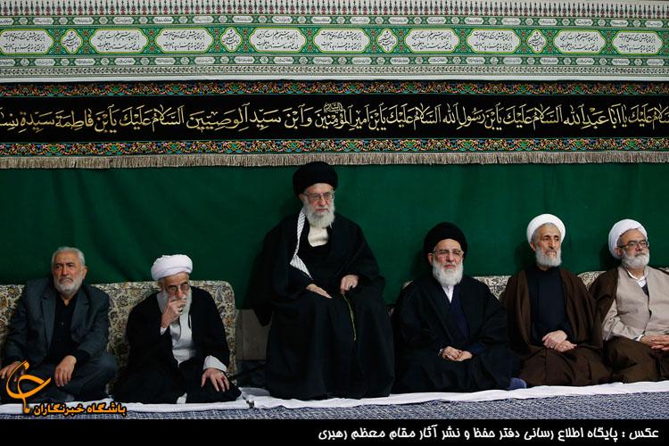 تصاویر اولین شب مراسم عزاداری حضرت اباعبدالله الحسین(ع) با حضور رهبر انقلاب
