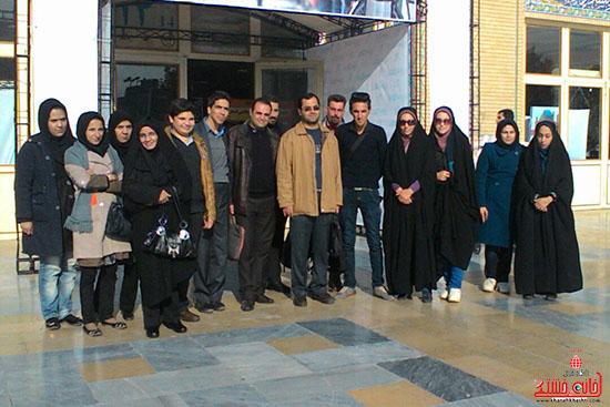 بازدید یکروزه خبرنگاران رفسنجان از نمایشگاه مطبوعات