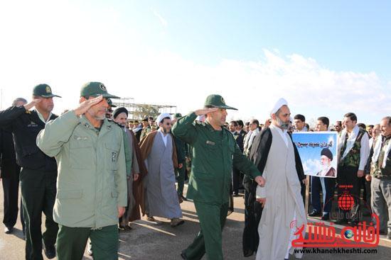"""اجتماع بزرگ بسیجیان با عنوان """"شکوه مقاومت"""" در رفسنجان برگزار شد"""