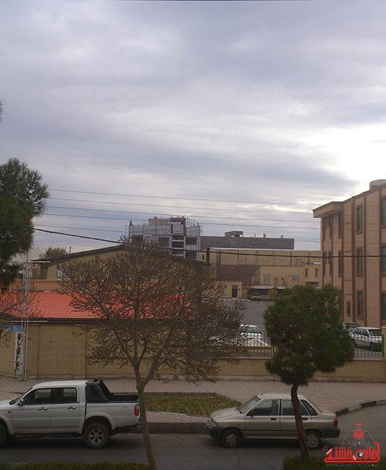 آسمان امروز رفسنجان-خانه خشتی