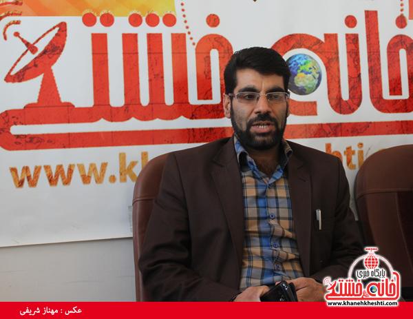 ابوالحسن ابولی شفا یافته در دفتر سایت خانه خشتی رفسنجان