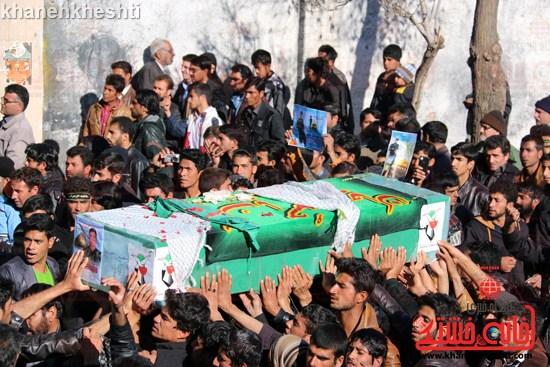 دوربین خانه خشتی در مراسم تشییع شهید مدافع حرم حضرت زینب(س)