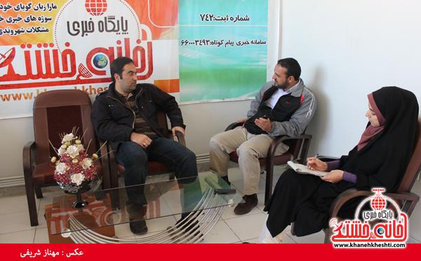 سید محسن سجادی عکاس کشوری در دفتر سایت خانه خشتی رفسنجان3
