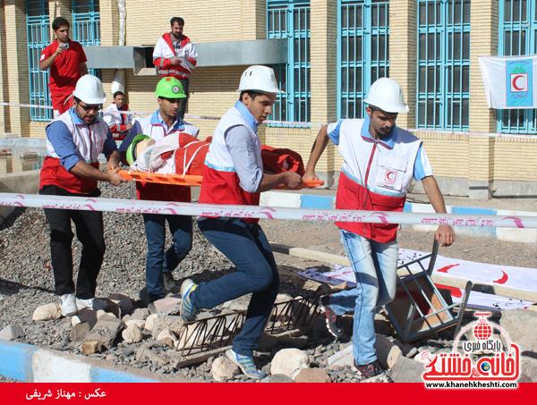 مسابقه امداد در سوانح در دانشگاه پیام نور رفسنجان+عکس