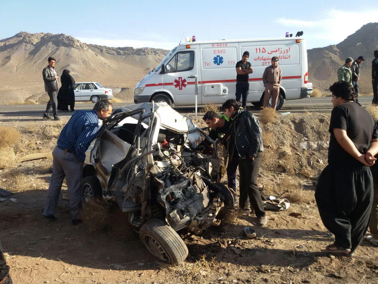 حادثه در محور سرچشمه مرگ پراید سوار را رقم زد